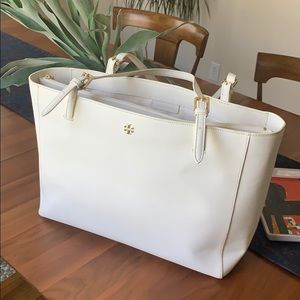 Large Tory Burch York buckle tote